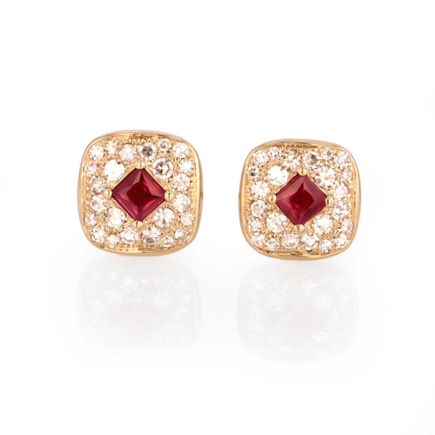 Ruby and Diamond earrings