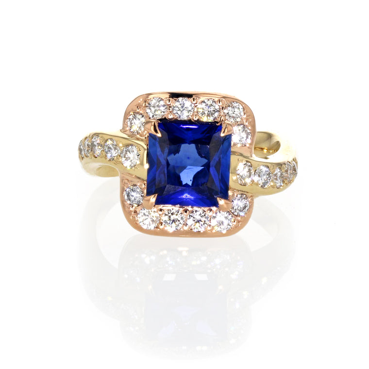 One of a Kind Blue Sapphire Ring
