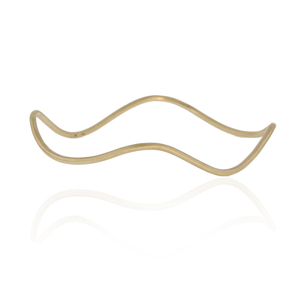 Small Wave Bracelet - 18K Yellow Gold
