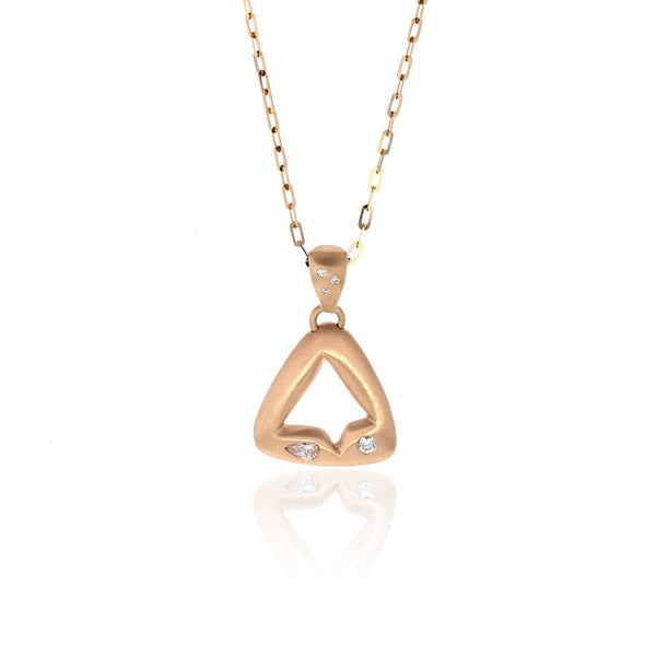 Triangle Necklace - 18K Rose Gold