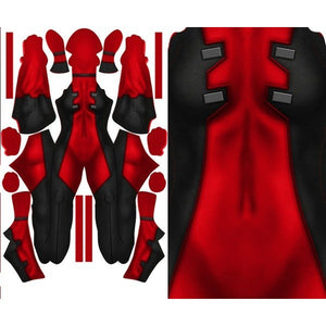Female Deadpool (With Texture) - Aesthetic Cosplay, LLC