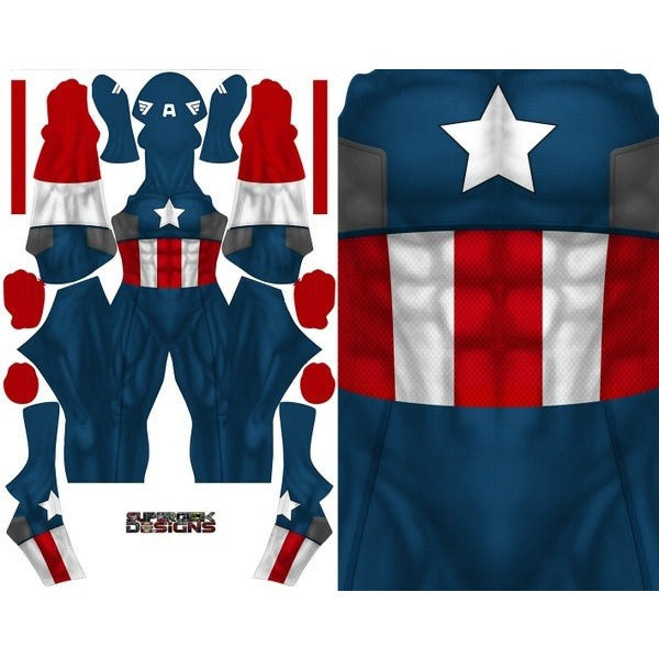 Captain America Comic Style - Aesthetic Cosplay, Inc.