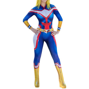 My Hero Academia Female All Might Cosplay Suit - Aesthetic Cosplay, LLC