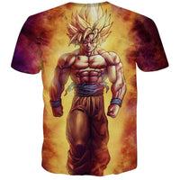 Goku Dragon Ball Z DBZ Compression T-Shirt Super Saiyan - 19 - Aesthetic Cosplay, LLC