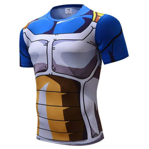 Vegeta Dragon Ball Z DBZ Compression T-Shirt Muscle Shirt Super Saiyan - Aesthetic Cosplay, LLC