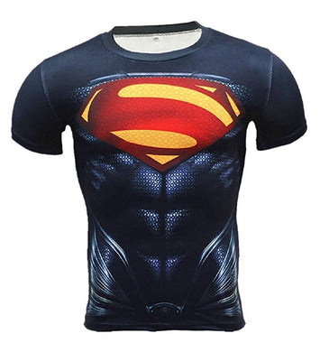 Superhero Compression T-Shirts - Men's Crew Neck - Superman - Aesthetic Cosplay, LLC
