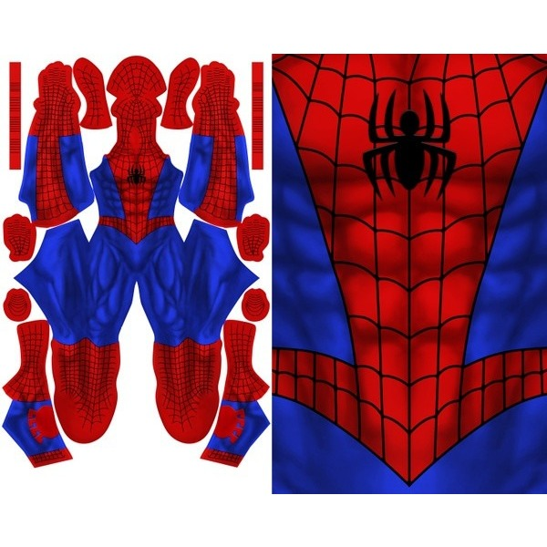 Comic Spider-Man (No Hex Pattern) - Aesthetic Cosplay, Inc.