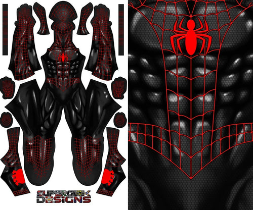 Red Webbing Symbiote Spider-Man - Aesthetic Cosplay, Inc.