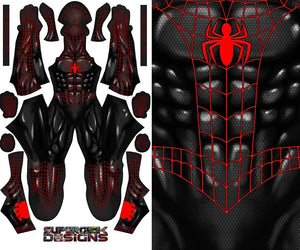 Red Webbing Symbiote Spider-Man - Aesthetic Cosplay, LLC