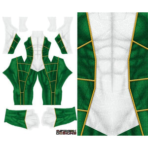 Green/White Power Ranger Hybrid - Aesthetic Cosplay, LLC
