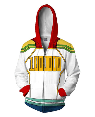 Boku No Hero Academia My Hero Academia Hoodie - White - Aesthetic Cosplay, LLC