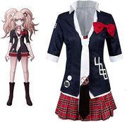 Junko Enoshima Danganronpa Cosplay Costume Polyester Uniform Dress