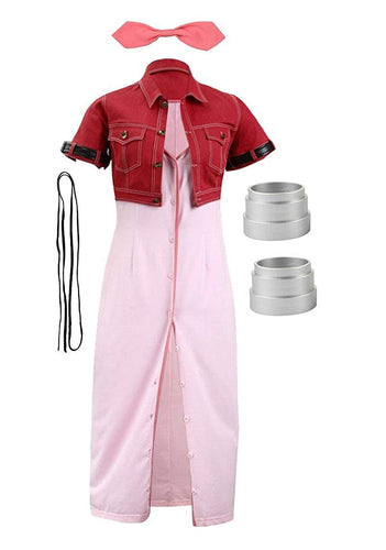 Final Fantasy VII Aerith Gainsborough Cosplay Costume - Aesthetic Cosplay, LLC