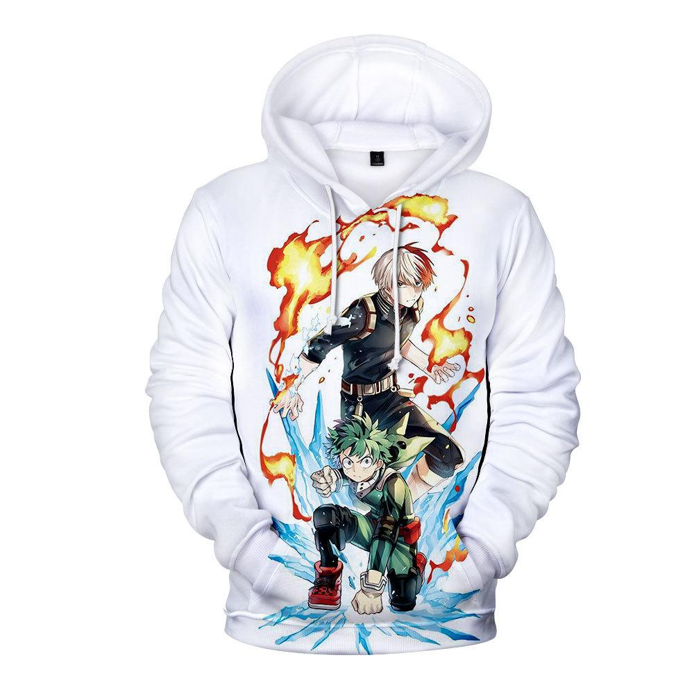 Boku No Hero Academia My Hero Academia Shouto & Deku Hoodie - Aesthetic Cosplay, LLC
