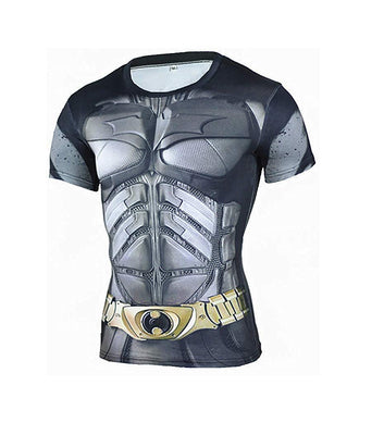 Superhero Compression T-Shirts - Men's Crew Neck - Batman Dark Knight - Aesthetic Cosplay, LLC