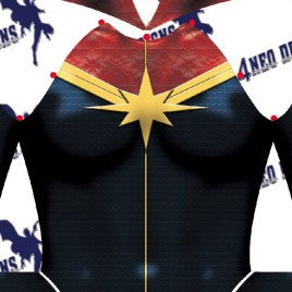 Captain Marvel V2 Female - Aesthetic Cosplay, LLC