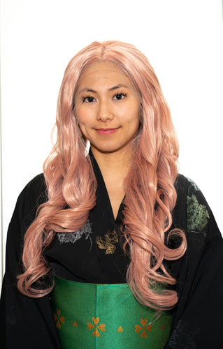 Pastel Pink Lace-Front Wig