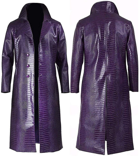 Suicide Squad Joker Patent Leather Coat - Aesthetic Cosplay, LLC