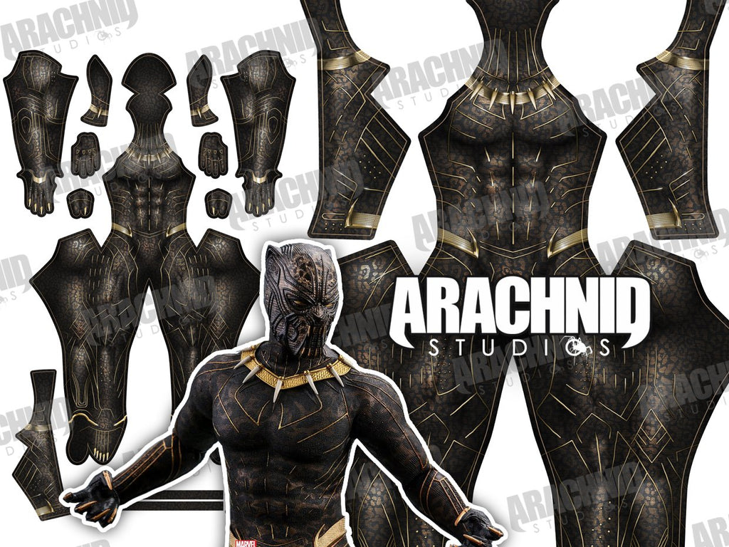 Black Panther - KILLMONGER (GOLD JANGUAR) - Aesthetic Cosplay, LLC
