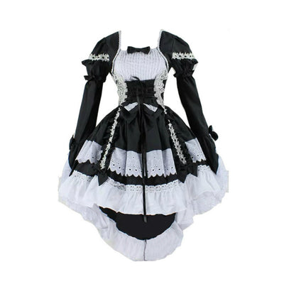 Classic Black and White Lolita Dress - Aesthetic Cosplay, LLC