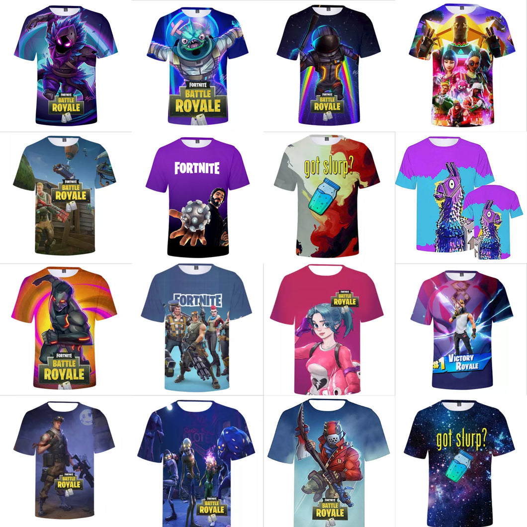 47a9428ca Fortnite Tshirt - 3D Print Design - Quick Dry - Crew Neck T-Shirt