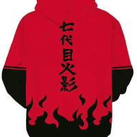Naruto Red Flame Hoodie - Aesthetic Cosplay, LLC