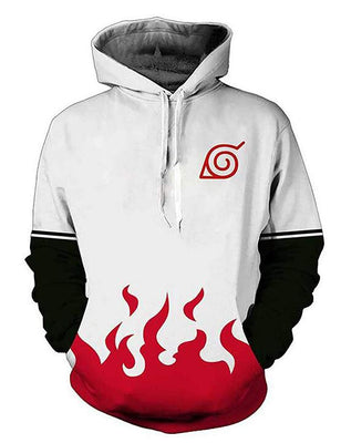 Naruto White Flame Hoodie - Aesthetic Cosplay, LLC