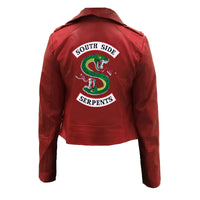 Riverdale Southside Serpents Patent Leather Jacket - Aesthetic Cosplay, LLC