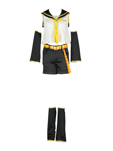Vocaloid 02 Kagamine Rin Cosplay Costume - Aesthetic Cosplay, LLC