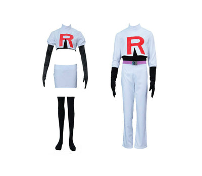 Pokémon Team Rocket Jessie and James Cosplay Costume - Aesthetic Cosplay, LLC