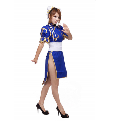 Street Fighter Chun Li Cosplay Costume - Aesthetic Cosplay, LLC