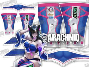 Ahri DVa Leotard - Aesthetic Cosplay, LLC