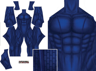 Blue Undersuit - Aesthetic Cosplay, LLC
