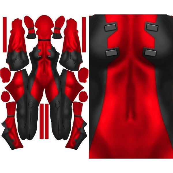 Female Deadpool (Plain) - Aesthetic Cosplay, Inc.