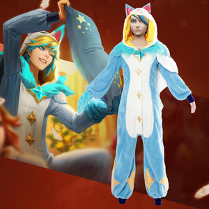 League of Legends Pajama Guardian Ezreal Cosplay Kigurumi - Aesthetic Cosplay, LLC