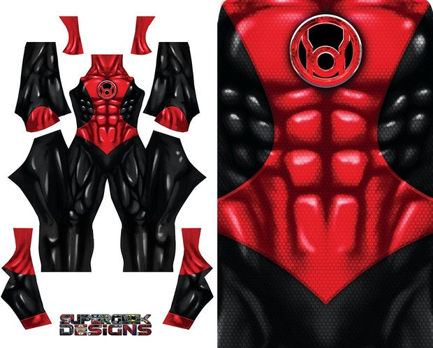 Red Lantern (No Boots/Gloves) - Aesthetic Cosplay, Inc.