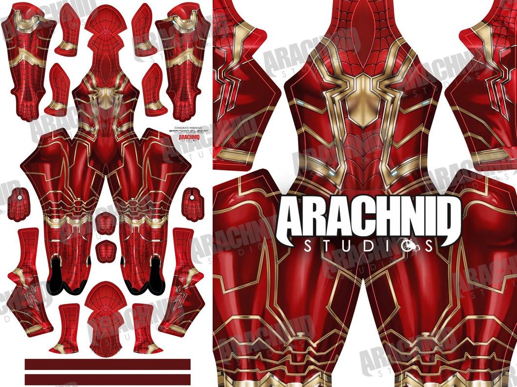 Iron Spider MCU - Red & Gold - Aesthetic Cosplay, Inc.