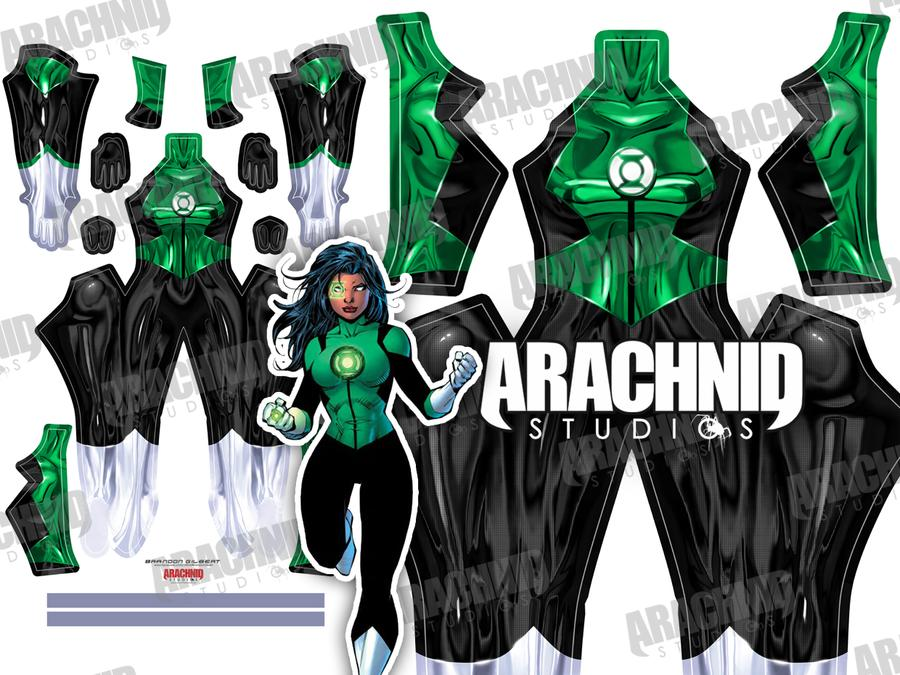 Green Lantern Jessica Cruz - Aesthetic Cosplay, LLC