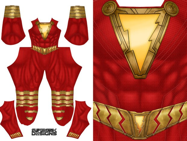 Shazam (Low Neckline) - Aesthetic Cosplay, LLC