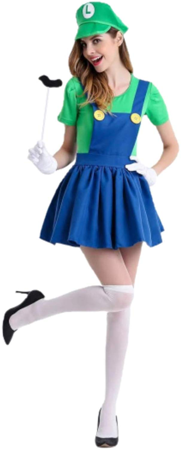 Luigi Overall Dress - Aesthetic Cosplay, LLC