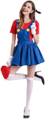 Mario Overall Dress - Aesthetic Cosplay, LLC