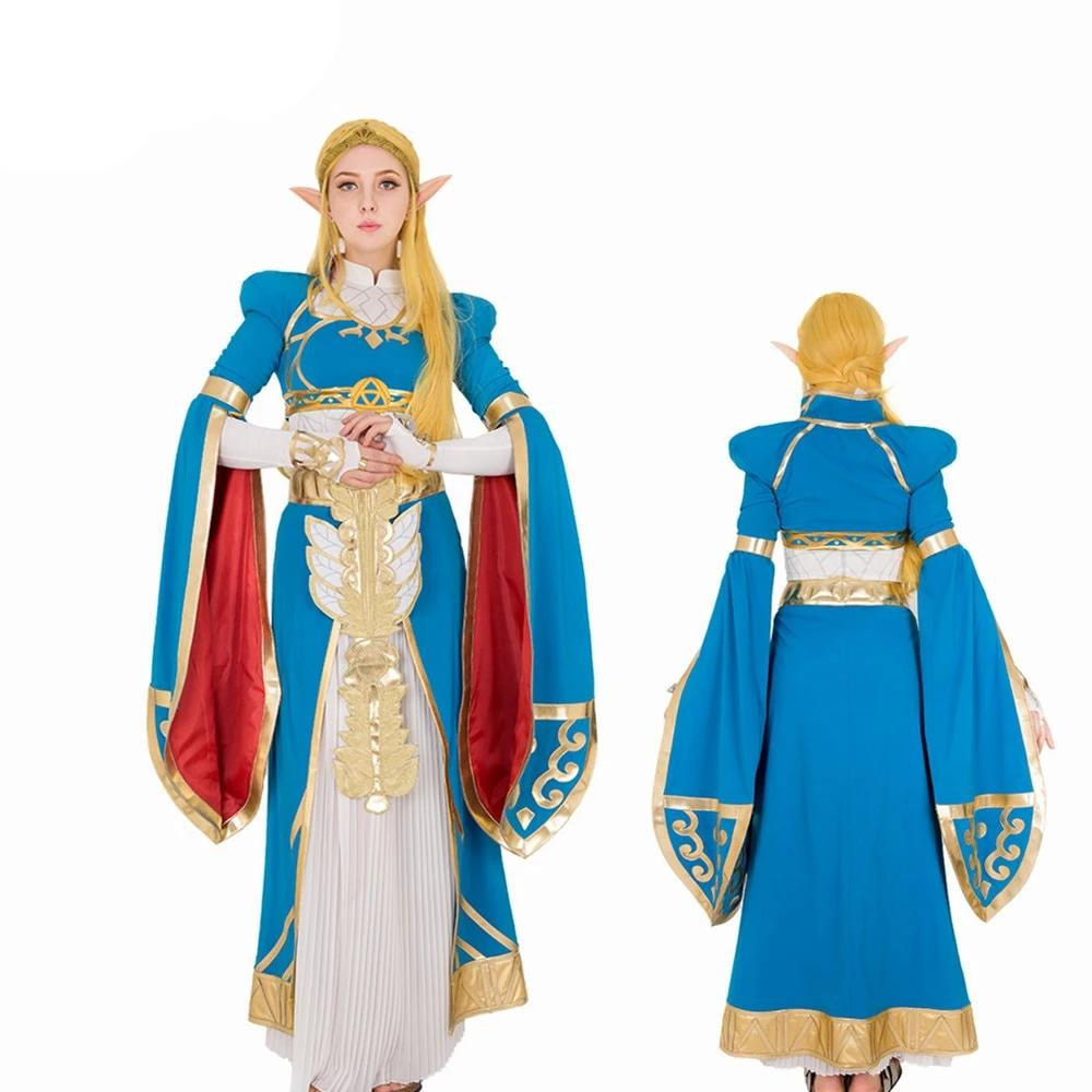 Legend Of Zelda Breath Of The Wild Princess Zelda Cosplay Costume