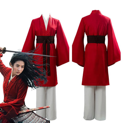 Mulan Cosplay Costume Womens Hanfu Dress Carnival Party Dress Armor Movie Garments…