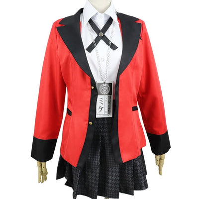 Kakegurui Yumeko Jabami Japanese School Girls Uniform Full Set - Aesthetic Cosplay, LLC