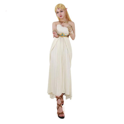 The Legend of Zelda: Breath of the Wild Princess Zelda White Dress Cosplay Costume - Aesthetic Cosplay, LLC