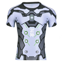 Overwatch Genji T-Shirt Muscle Shirt Compression T - Aesthetic Cosplay, LLC