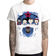 South Park Stranger Things Mash-Up Crew Neck T-Shirt - Aesthetic Cosplay, LLC