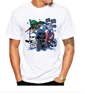 Star Wars Chibi Villains Crew Neck T-Shirt - Aesthetic Cosplay, LLC