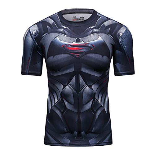 Superhero Compression T-Shirts - Men's Crew Neck - Batman vs. Superman - Aesthetic Cosplay, LLC
