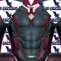 Vision Male with Cape - Aesthetic Cosplay, LLC